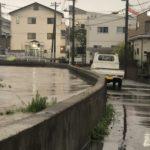 2019/10/25 16:48 水位が既に道路より高い