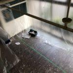 2020/05/28 16:40 天井ペンキ塗り替え中、部屋中 養生