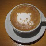 2012/02/17 17:27 とある日に 何気なく作った ラテアート は クマ