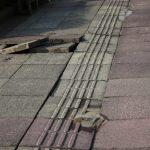 2011/03/11 15:49 佐倉市内も大地震で歩道はめちゃくちゃに